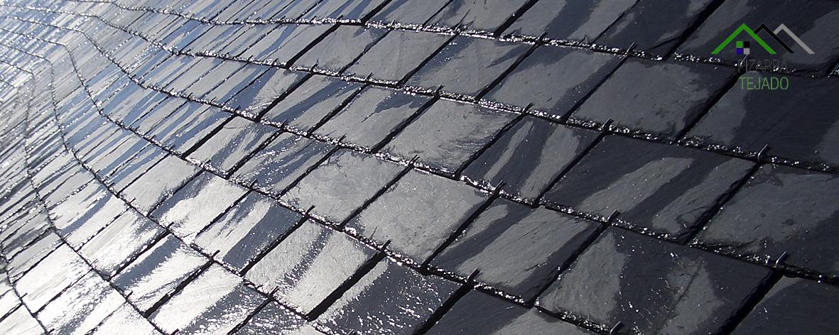 Pizarra para cubiertas y tejados colocaci n de pizarra - Tejados de pizarra ...