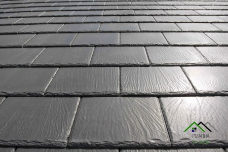 E30 pizarra negra rectangular y redondeada cantera en le n - Materiales para tejados ...