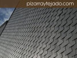 Foto de pizarra para revestimiento de pared. Pizarra natural de León.