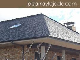 E 10M. Foto de pizarra para tejado y cubierta. Vivienda unifamiliar en León.