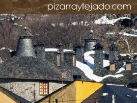 Fotos de tejados de pizarra de la provincia de León.