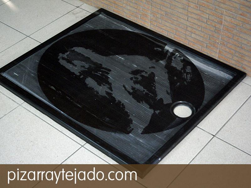 Platos de ducha de pizarra natural 100 natural - Ducha de diseno ...