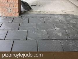 Pizarra para suelos exteriores pizarra natural de le n y - Plaquetas para suelos ...