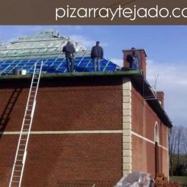 ¿Es fácil colocar pizarra en tejado?