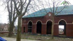 Finalización de rastrelado para cubierta de pizarra natural de León. Obra de 500 m2 en Bélgica.