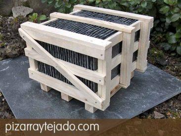 Palet de pizarra natural de León para tejados y cubiertas.pizarraytejado.com.