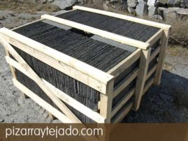 Pallet de pizarra natural de León para tejados para venta en España.