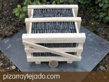 Pallet de pizarra natural de León para tejados y cubiertas.www.pizarraytejado.com.