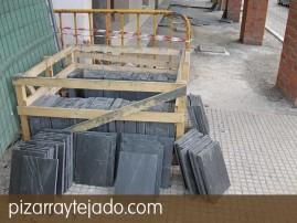 Plaqueta de pizarra natural 35 x25 para suelo exterior. Pizarra para decoración de suelos exteriores.