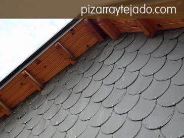 Venta y colocación de pizarra en fachada o pared vertical. Pizarra natural de cantera de León.
