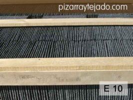 E 10 Pizarra rectangular y redonda para tejados de viviendas. Piedra natural de León.