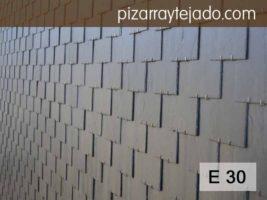 E30 Pizarra negra gruesa para cubiertas, tejados y fachadas. Excelente calidad. Origen León.