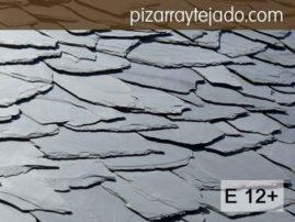 E12+ Pizarra irregular para tejado rústico. Permite recortes. Pizarra en rama. Pizarra granel.