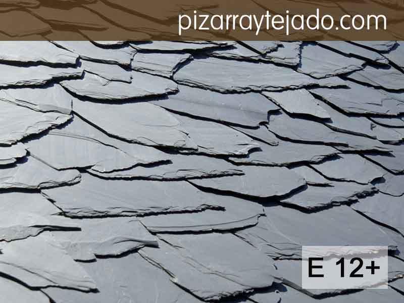 E12+ Pizarra irregular para tejado rústico. Permite recortes.