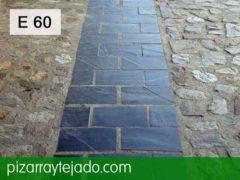 E 60 pizarra irregular para suelo de exterior e interior - Plaquetas suelo exterior ...