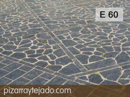 E 60 plaquetas de pizarra decorativa para exteriores. Pizarra natural para exteriores. Apta para tránsito intenso.