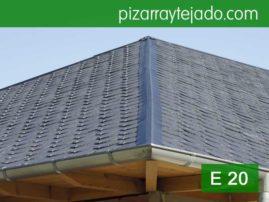Limatesa de pizarra gris azulada. Pizarra para tejados de grano fino E20.
