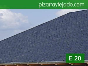Pizarra gris azulada. Pizarra para tejados E20.