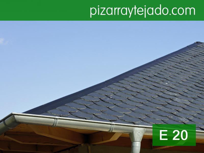 Pizarra gris para cubierta. Pizarra para tejados de grano fino E20.