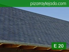 Pizarra gris para tejados. Pizarra para cubierta de grano fino E20.