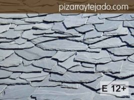 Decoración rústica de casas con tejados de pizarra. E 12 plus formato irregular. Pizarra natural de León. Pizarra en rama. Pizarra granel.