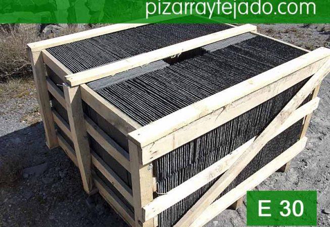 E 30 pizarra negra para tejados y cubiertas for Tejados galicia