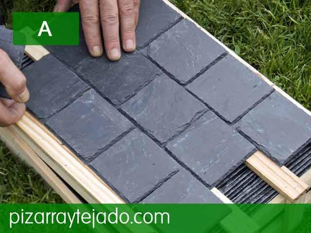 Pizarra azulejos para paredes cubiertas y tejados de for Pizarra para jardin