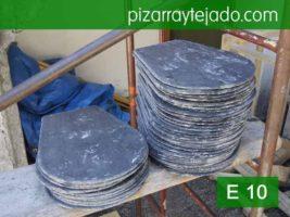 Formato pizarra rombo 40x30. Modelo E 10. Piedra de pizarra natural.
