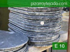 Pizarra rombo 40x30 de 8-9 mm de espesor. Pizarra de tejados.