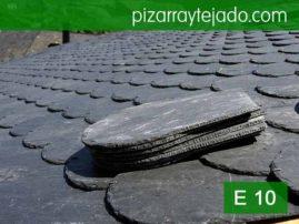 Pizarra rombo color negro. Pizarra de calidad para tejados. Pizarra de León.