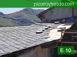 Pizarra rombo. Modelo E 10. Pizarra para tejados. Pizarra de España.