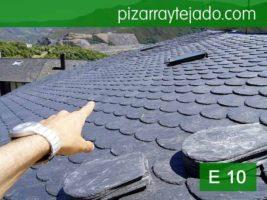 Remate de tejado con pizarra rombo de León. Pizarra de calidad.