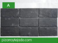 Azulejo de piedra pizarra decoración. Formato rectangular.
