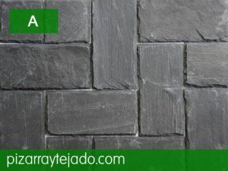 Colocación de azulejos de pizarra decorar interior y exterior.
