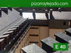 Colocación de pizarra E 40 Alta Montaña estación de ski de San Isidro León. Pizarra Asturias.