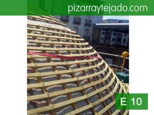 Colocación doble rastrel para cubierta de pizarra Euskadi.