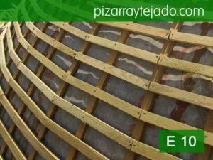 Colocación rastrel para cubierta de pizarra San Sebastián.