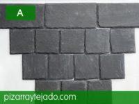Combinación de formatos de azulejos de pizarra de León.