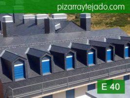 Pizarra Asturias. Colocación pizarra E 40 Alta Montaña. Estación de ski de San Isidro.
