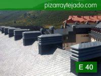 Pizarra León. Colocación de pizarra E 40 Alta Montaña. Estación de ski de San Isidro.