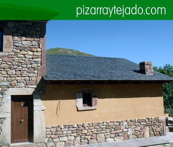 Col·locació de teulades de pissarra Pirineus. Colocación de pizarra en tejados.