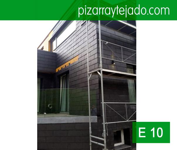 Preciosas fachada de pizarra con pizarra de tejado y con - Fachadas de pizarra ...