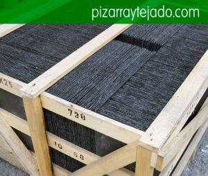 Pizarra natural para la cubierta y el tejado. Pallets de pissarra natural per cobertes.