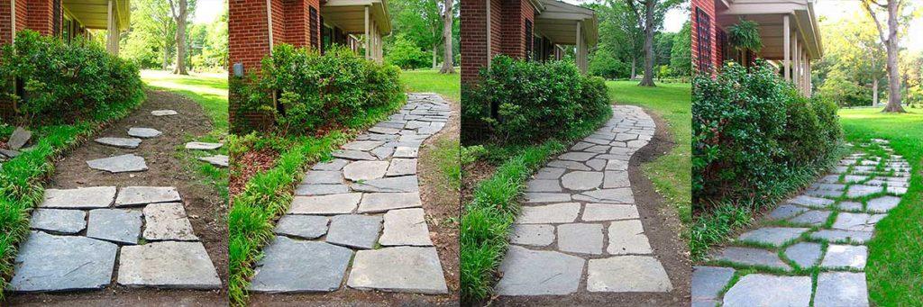 E 60 pizarra irregular para suelo de exterior e interior - Suelos para jardines pequenos ...