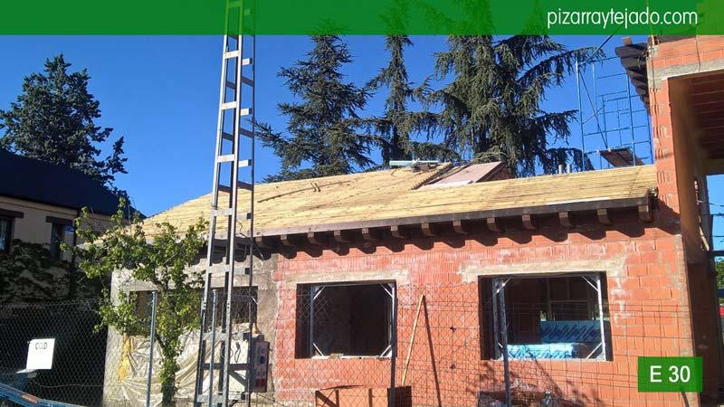 Venta y colocaci n de tejado pizarra natural madrid - Tejado de pizarra ...