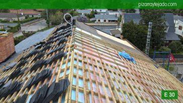 Colocación pizarra tejado Madrid pizarra natural. Pizarra barata Madrid.