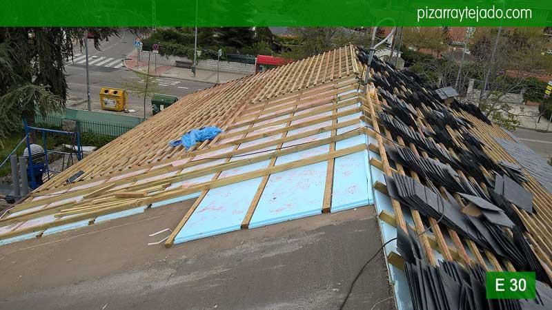 Venta de pizarra en madrid cubiertas y tejados de pizarra - Tejado de pizarra ...