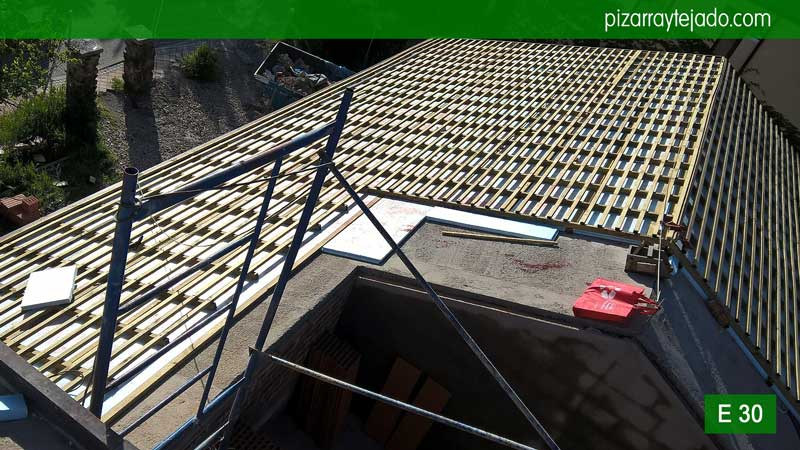 Como se hace un tejado de pizarra en madrid cubiertas y tejados de pizarra colocaci n de - Tejado de pizarra ...