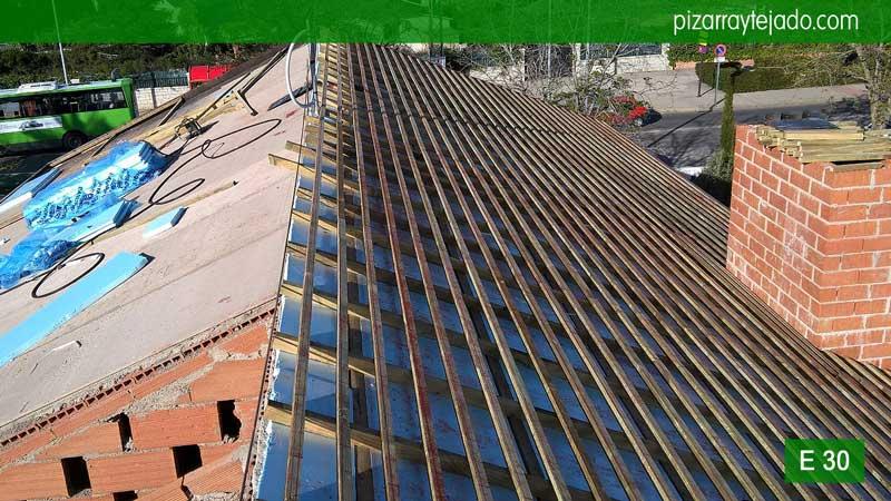 Cubierta de pizarra madrid tejados madrid montaje de triple rastrel cubierta de pizarra en - Cubiertas de pizarra en madrid ...