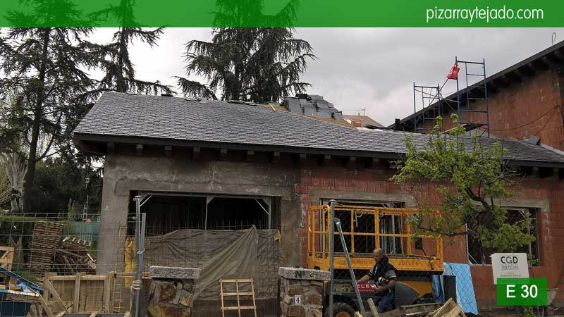 Cubierta y tejado pizarra bierzo cubiertas y tejados de pizarra colocaci n de pizarra en - Cubierta de pizarra ...